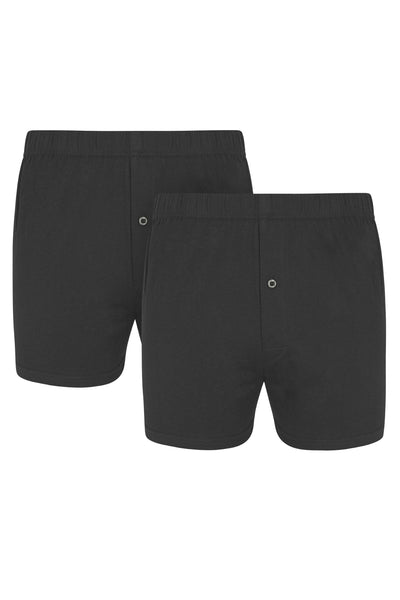 Grey Jersey Boxer Short [Twin Pack]