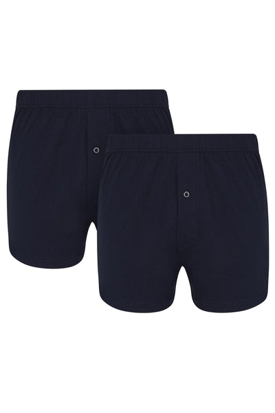 Navy Jersey Boxer Short [Twin Pack]