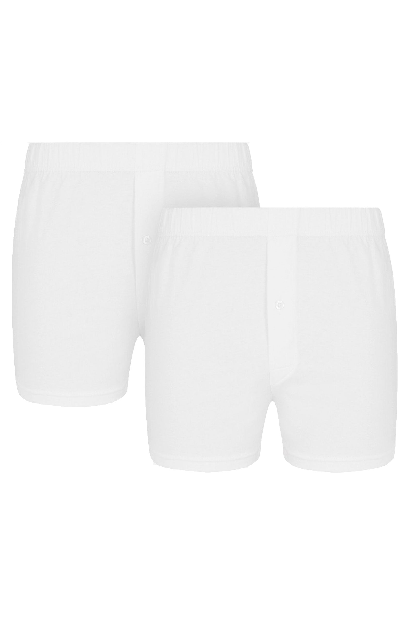 White Jersey Boxer Short [Twin Pack]