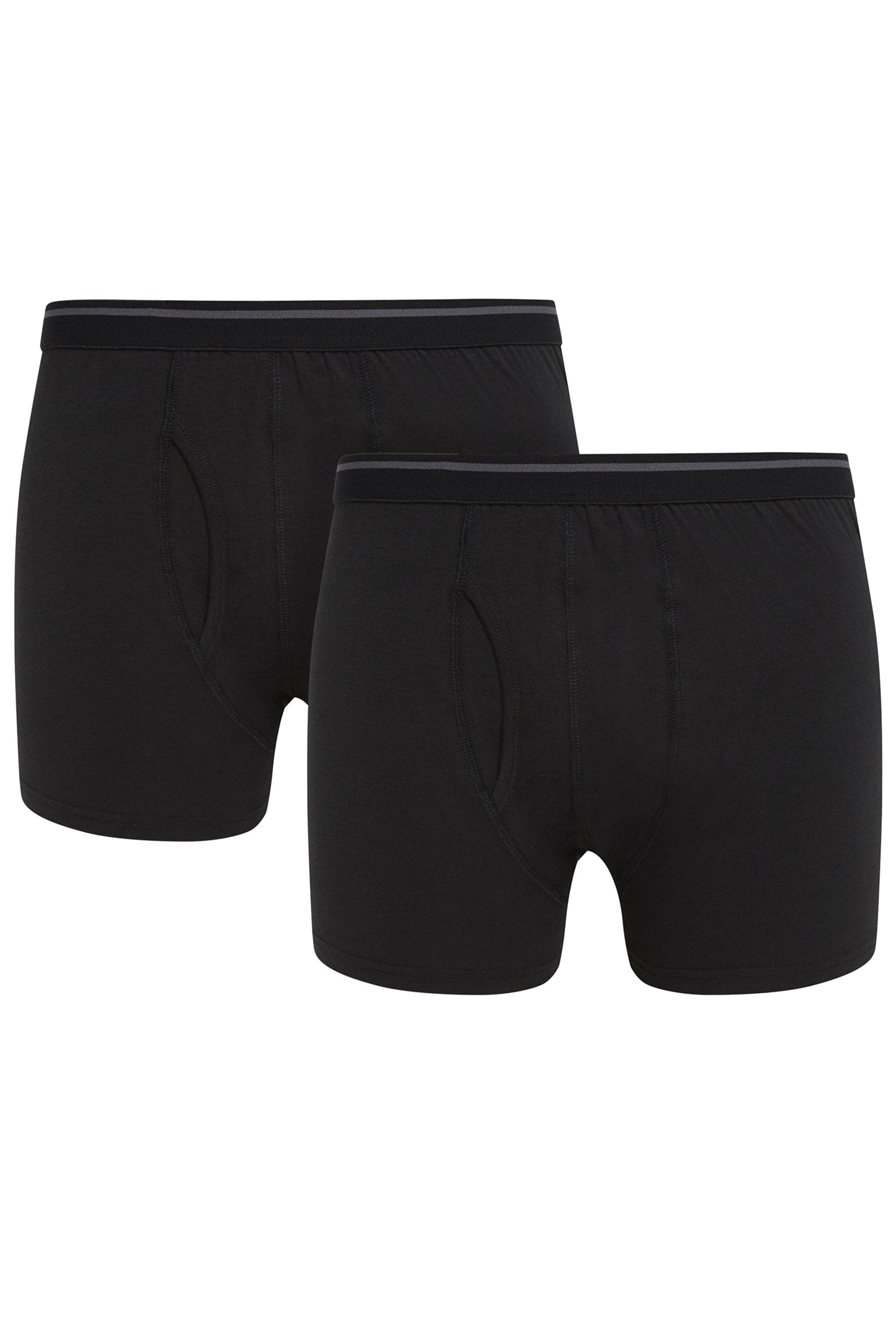 Black Cotton Lycra Hipster Trunk