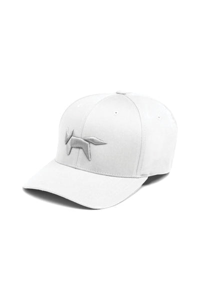White Fox Embroidery Flex Fit Cap
