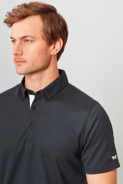 Black Temperature Regulating Pique Polo