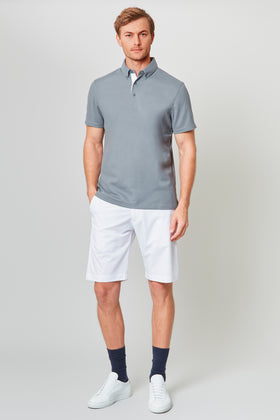 Grey Temperature Regulating Pique Polo
