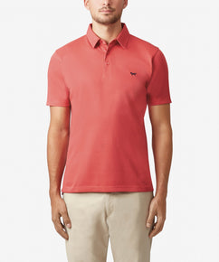 CORAL PLATED PIQUE POLO