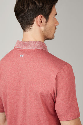 Crimson Temperature Regulating Jersey Polo