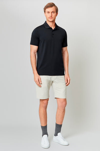 Black Temperature Regulating Jersey Polo