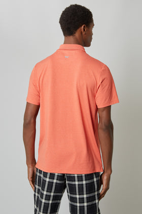 Deep Mandarin Temperature Regulating Jersey Polo