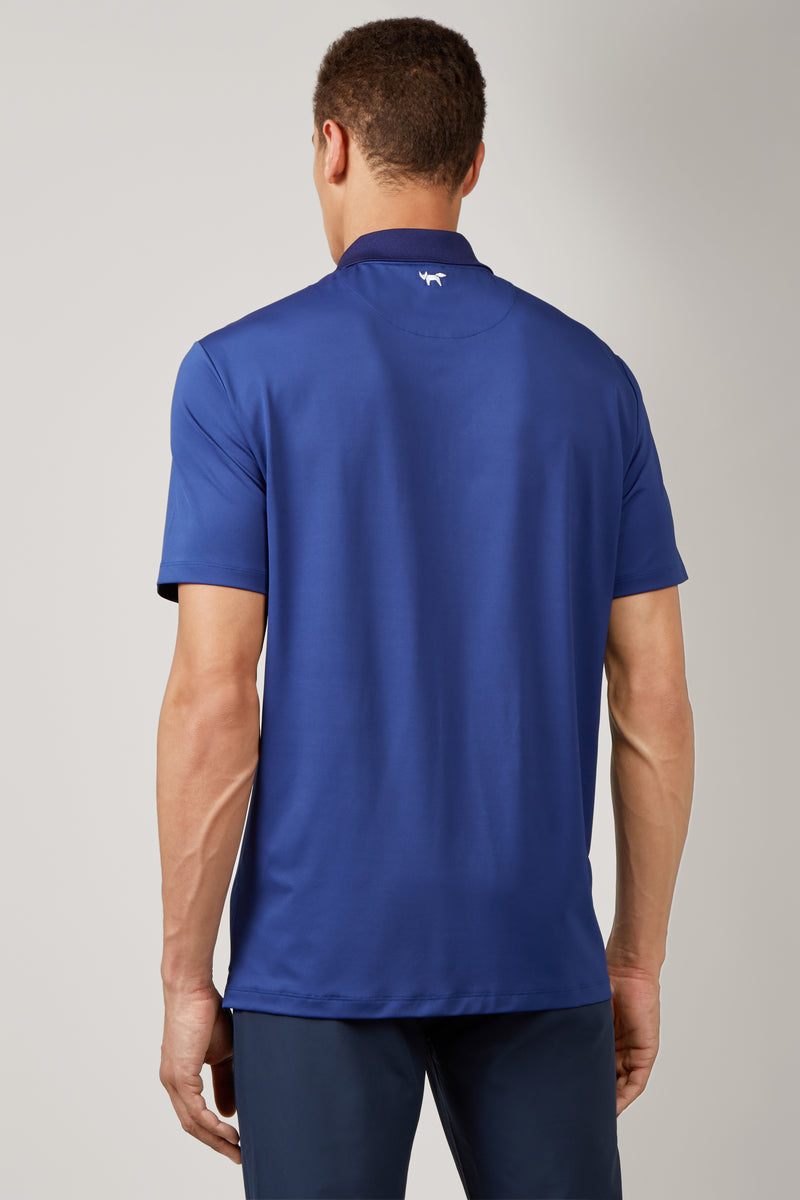 Electric Blue Temperature Regulating Jersey Polo
