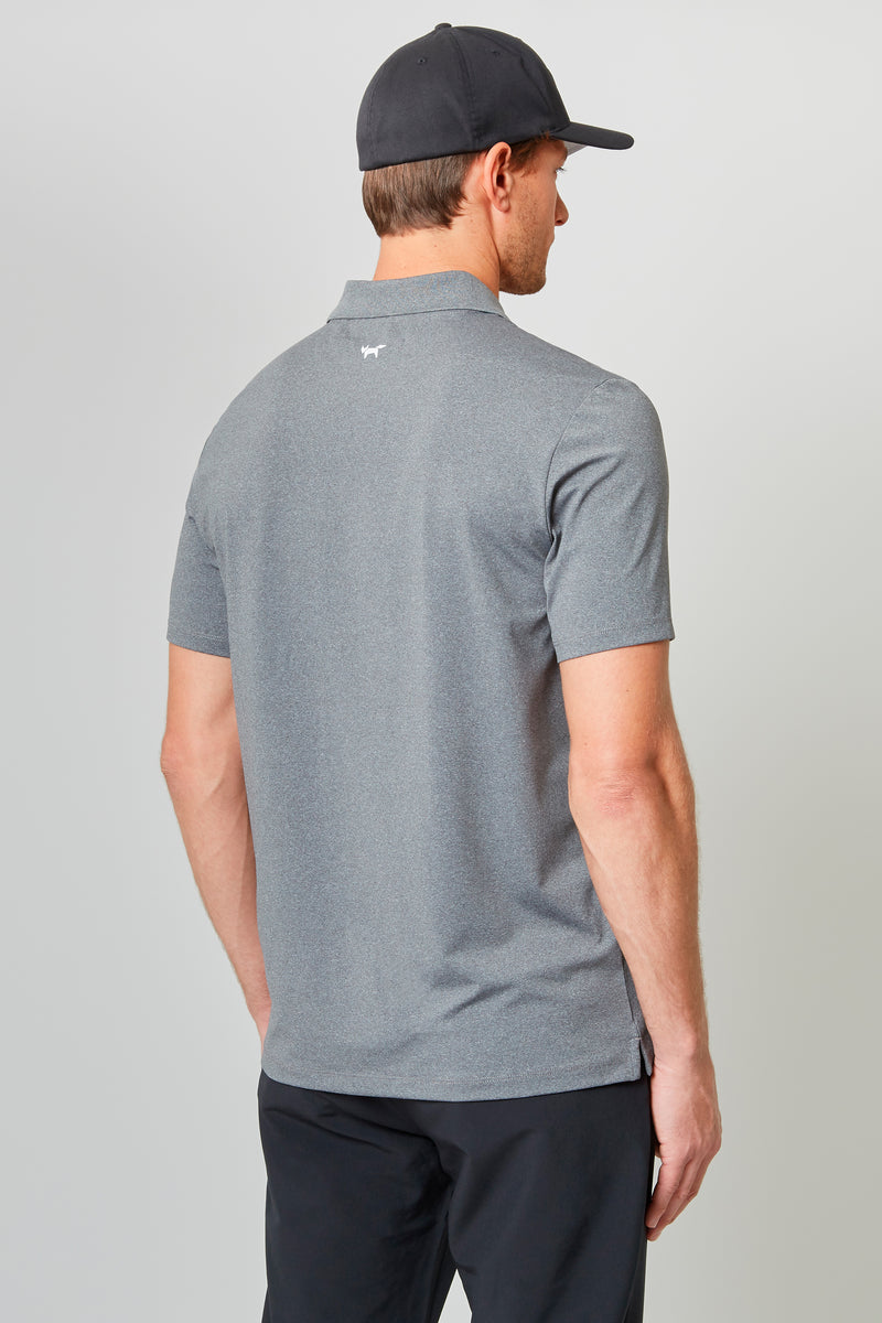 Grey Temperature Regulating Jersey Polo