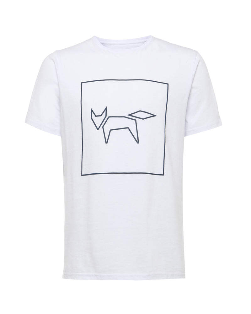 FOX LOGO T-SHIRT IN WHITE