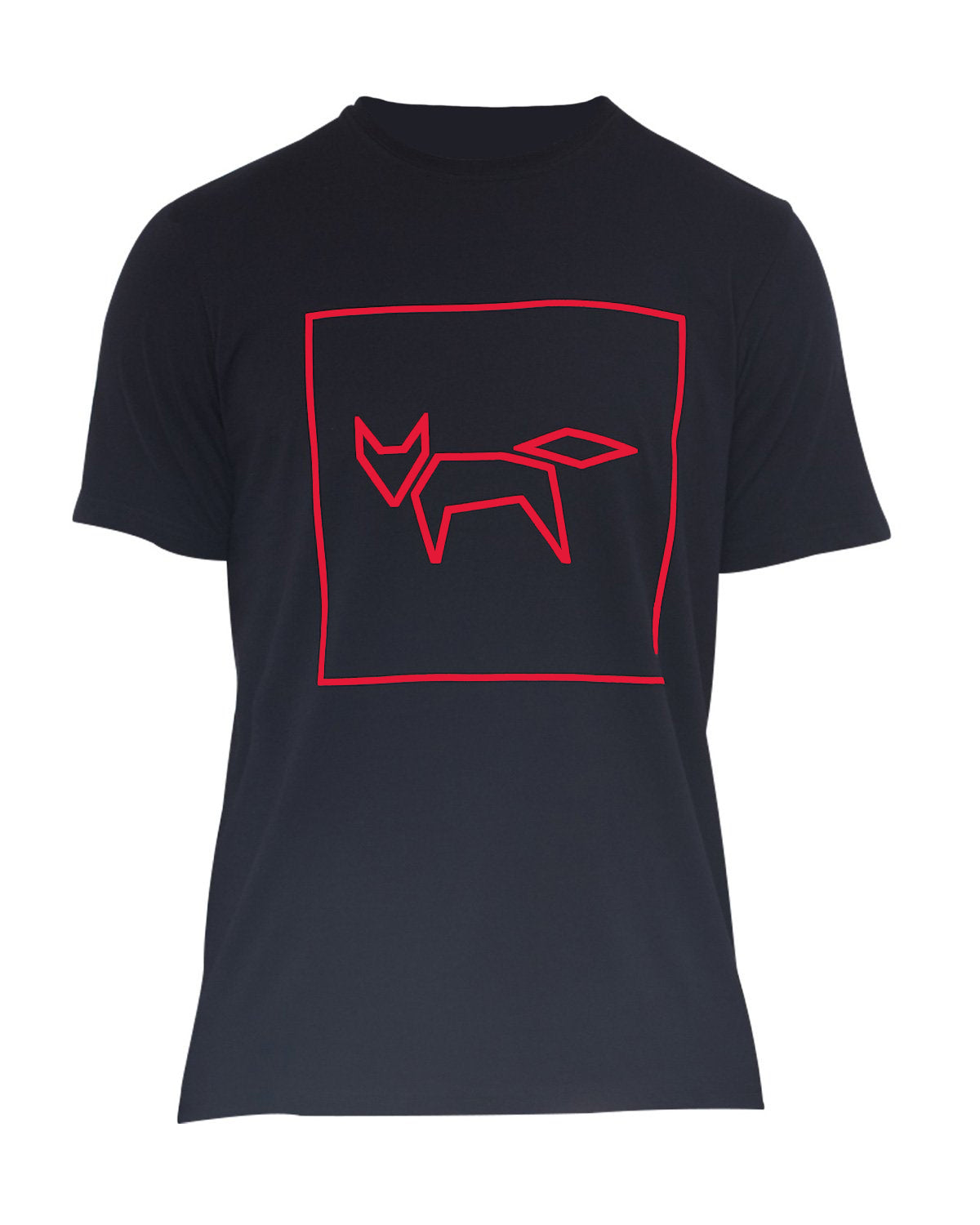 FOX LOGO T-SHIRT IN BLACK