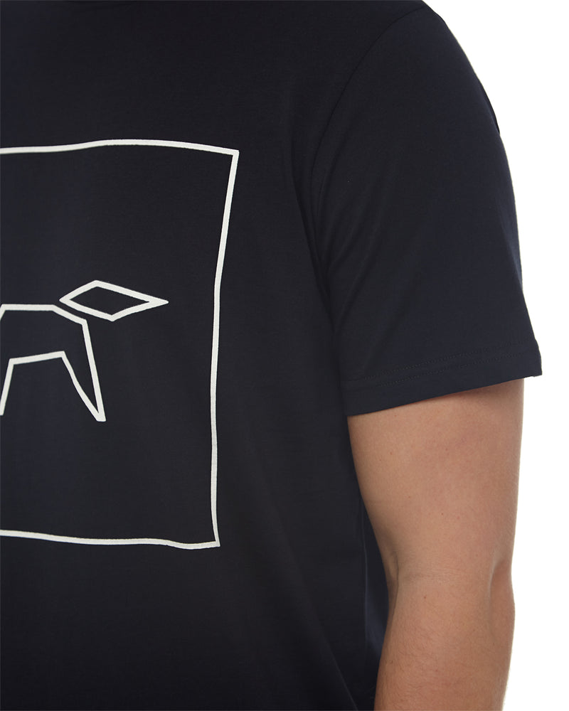 FOX LOGO T-SHIRT IN TOTAL ECLIPSE