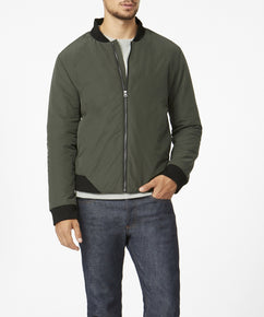 DK OLIVE LIGHTWEIGHT PADDED BOMBER WITH PRIMALOFT [EXCLUSIVE]