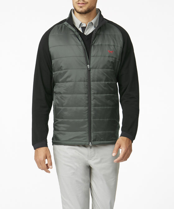 CHARCOAL MERINO STRETCH INSULATOR JACKET WITH PRIMALOFT