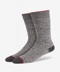 GREY TWISTED YARN SOCK