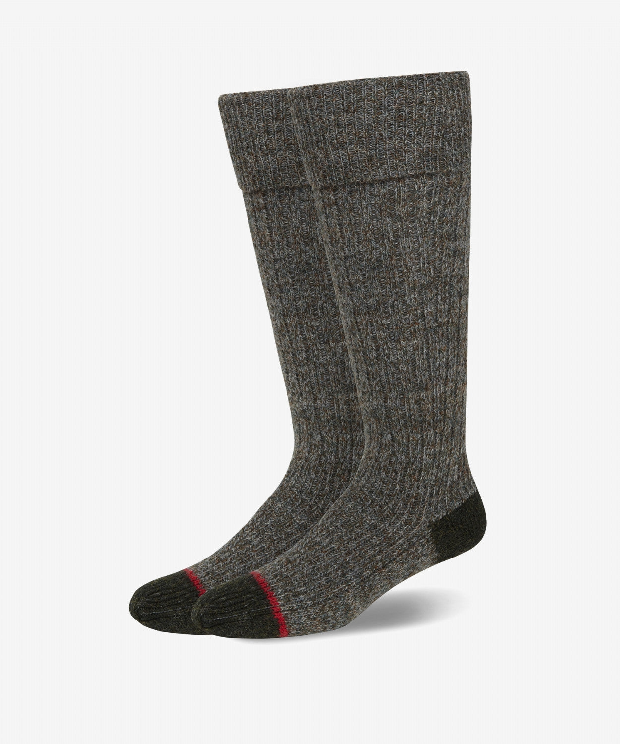 DK OLIVE TRADITIONAL RIB SOCK [MADE IN UK]