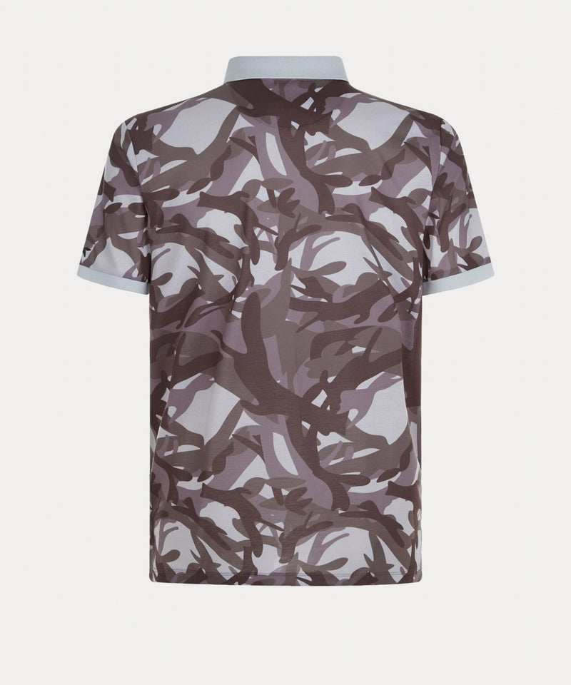 LT GREY CAMOUFLAGE PRINT POLO