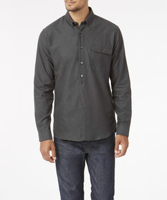 NINE IRON BRUSHED HERRINGBONE SHIRT [EXCLUSIVE]