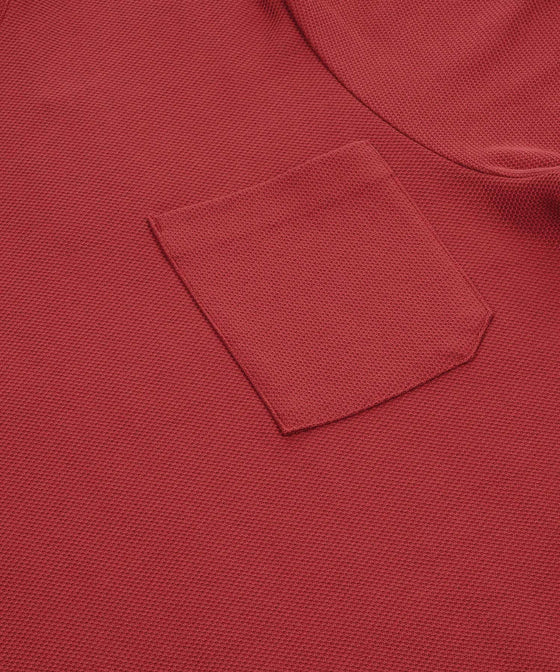 CORAL TEXTURED POCKET TEE