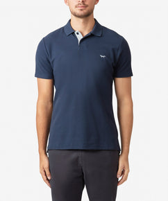 TOTAL ECLIPSE PIQUE POLO WITH LOGO AND RIB COLLAR