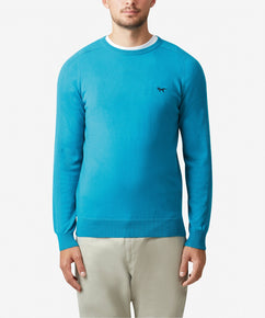 CANE MERINO CREW NECK SWEATER