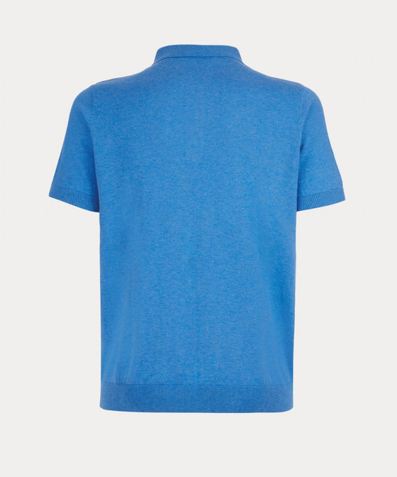AZURE SHORT SLEEVE KNITTED POLO SHIRT