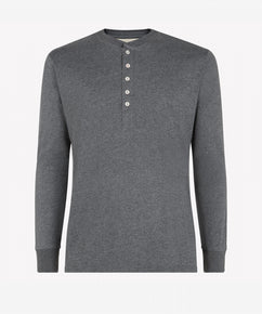 GRAPHITE LONG SLEEVE HENLEY SHIRT