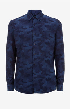 INDIGO CAMO SHIRT [EXCLUSIVE]