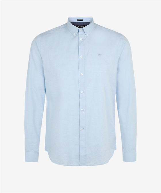 FOREVER BLUE BUTTON DOWN OXFORD TAILORED FIT SHIRT