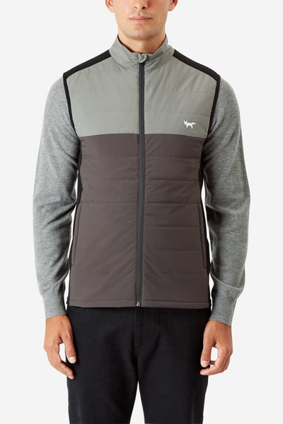 CHARCOAL ANTHRACITE COLOUR BLOCK INSULATOR GILET