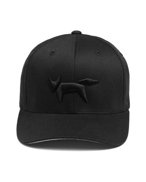 Black Fox Embroidery Flex Fit Cap