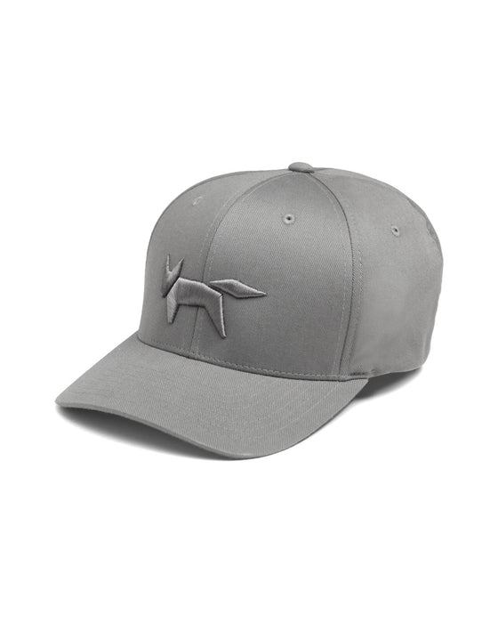 FLEX FIT CAP IN CHARCOAL ANTHRACITE WITH FOX EMBROIDERY
