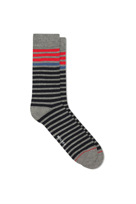 Charcoal Anthracite Block Colour Sock