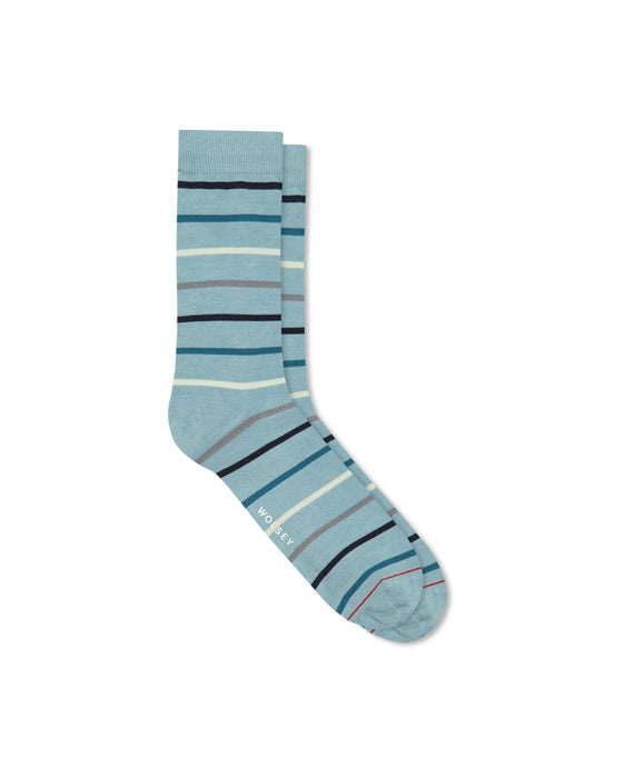 BLUE BLEU MULTI STRIPE SOCK