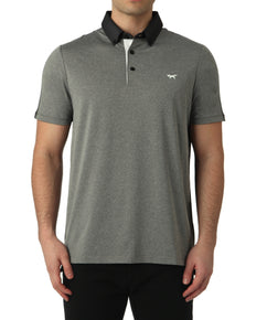 GREY MELANGE COLOUR SPLIT POLO