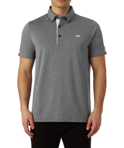 GREY MELANGE TIPPING SLEEVE POLO