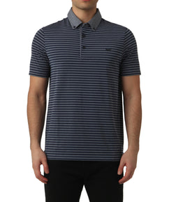 TOTAL ECLIPSE MELANGE STRIPE POLO
