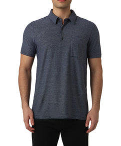 TOTAL ECLIPSE MIXED STRIPE POLO