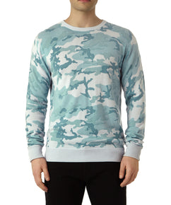 CAMO CREW NECK PULLOVER IN CAMBRIDGE