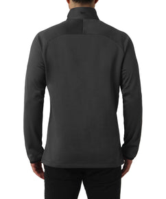 GREY MELANGE COLOUR SPLIT QUARTER ZIP SWEAT