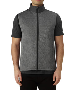 COLOUR SPLIT GILET IN GREY MELANGE