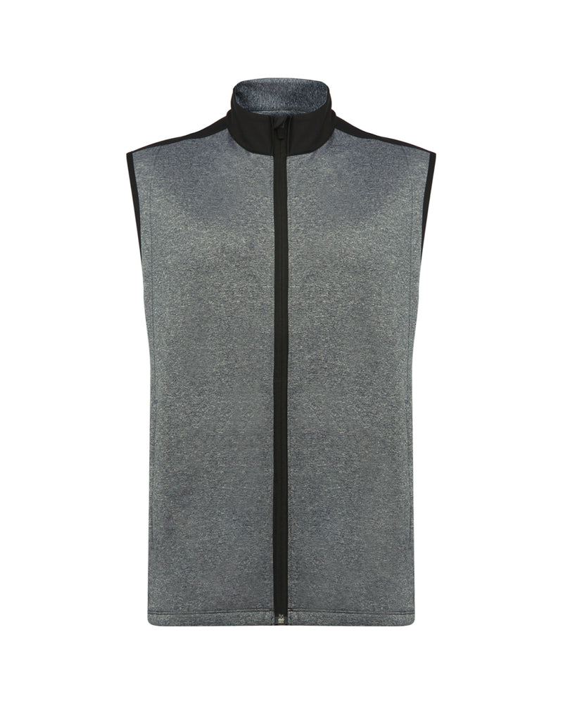 COLOUR SPLIT GILET IN TOTAL ECLIPSE MELANGE