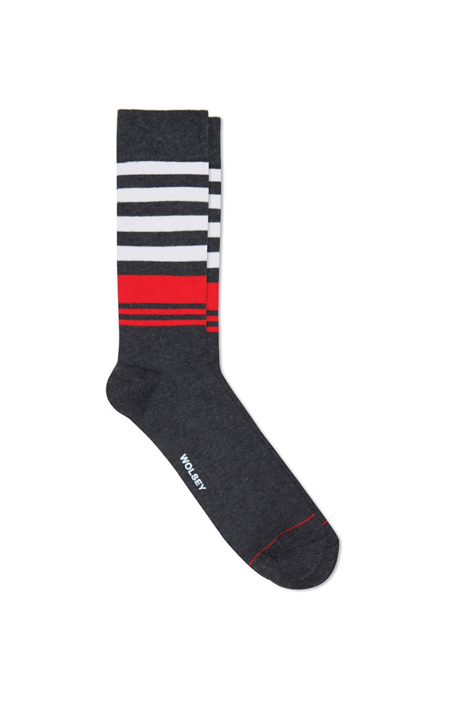 Charcoal Cotton Blend Stripe Sock
