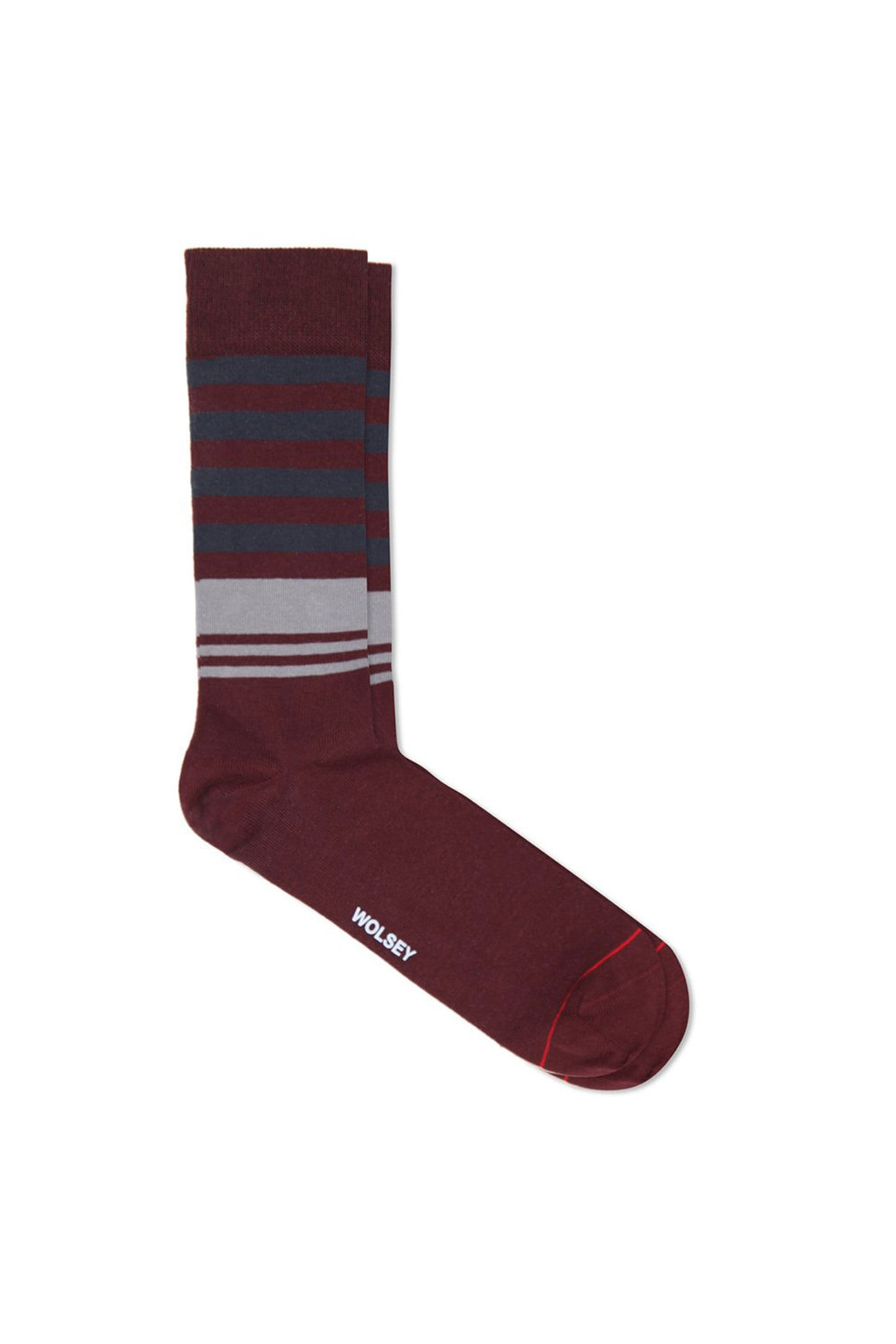 Madder Cotton Blend Multi Stripe Sock