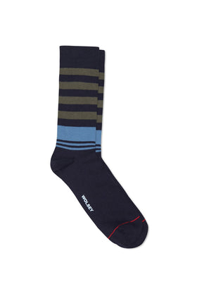 Total Eclipse Cotton Blend Multi Stripe Sock