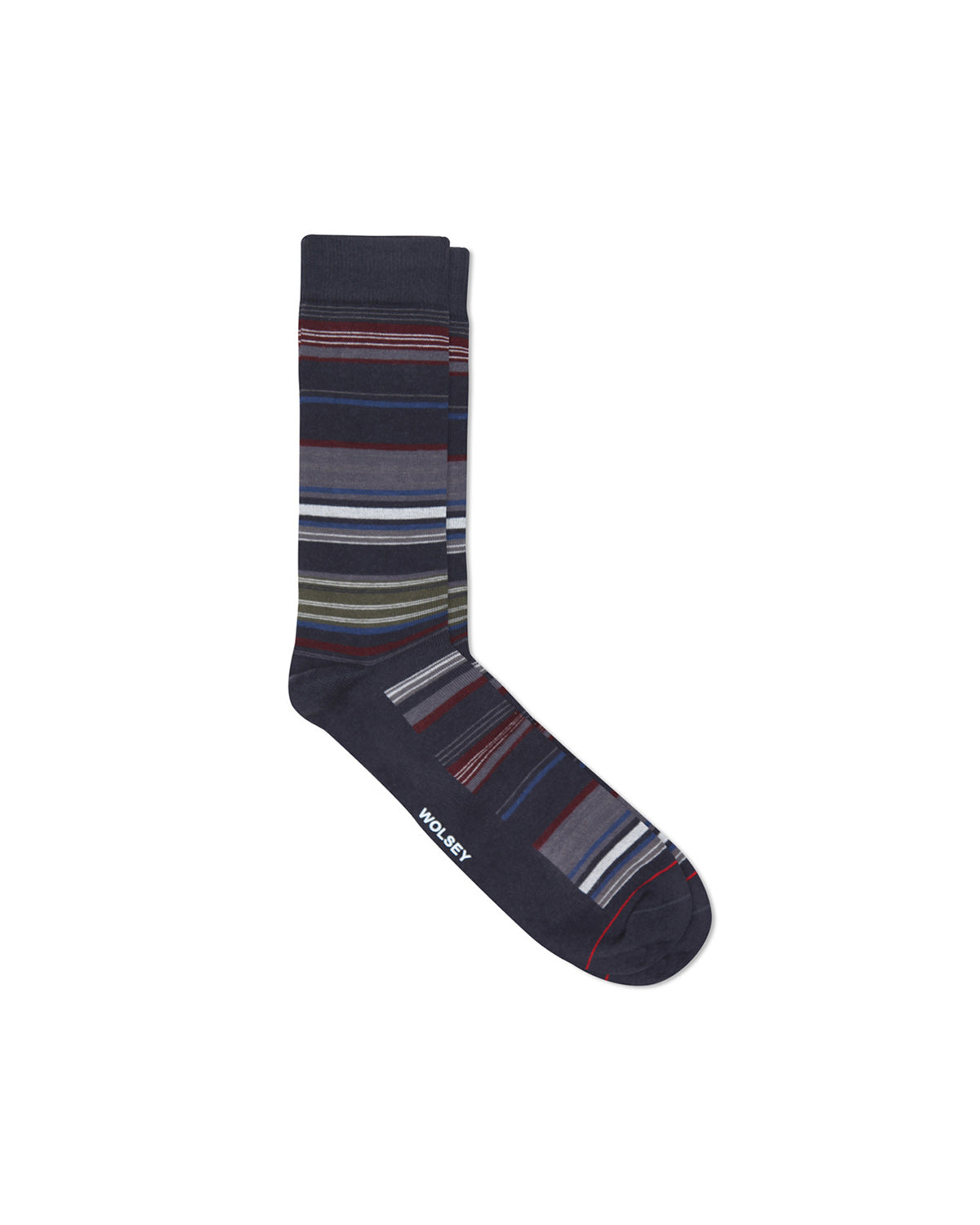 Charcoal Cotton Blend Fine Stripe Sock
