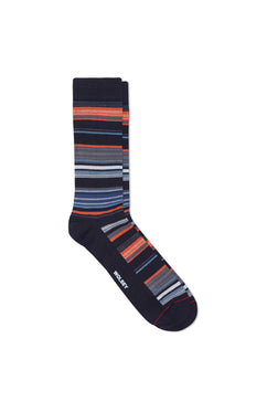 TOTAL ECLIPSE COTTON BLEND FINE STRIPE SOCK