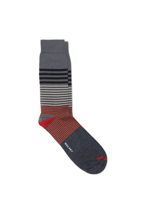 Charcoal Cotton Blend Multi Stripe Sock