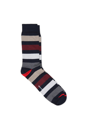 Total Eclipse Cotton Blend Block Stripe Sock