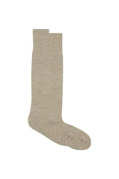 Short Oatmeal Rambler Wool Sock